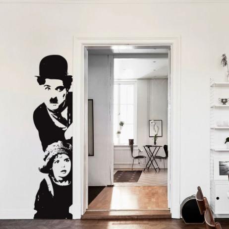 Adesivo de Parede Charlie Chaplin, O Garoto