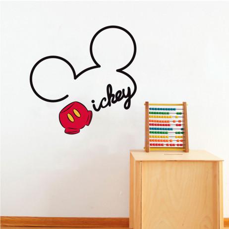 Adesivo de Parede Infantil Mickey