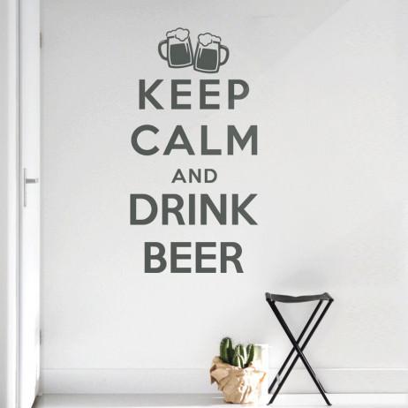Adesivo de Parede Keep Calm and Drink Beer