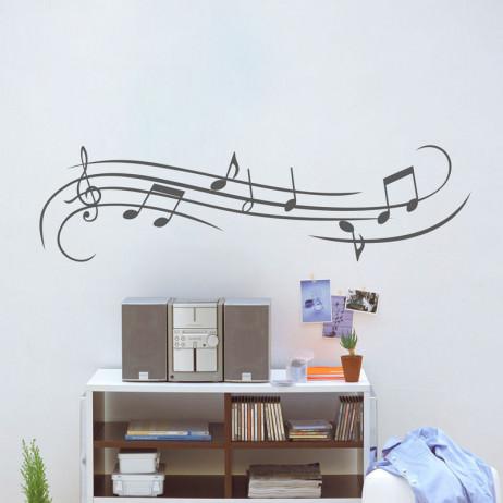 Adesivo de Parede Notas Musicais
