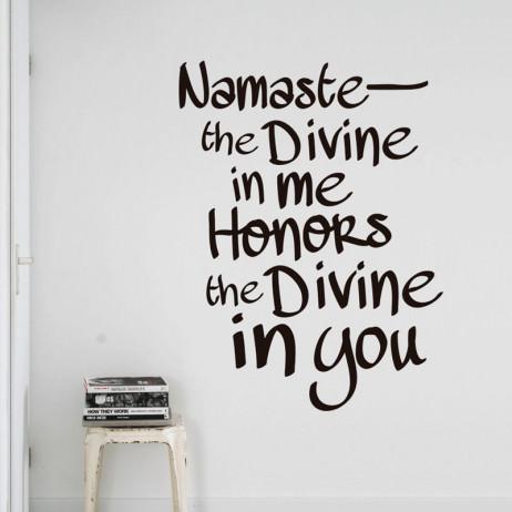 Adesivo de Parede Namaste