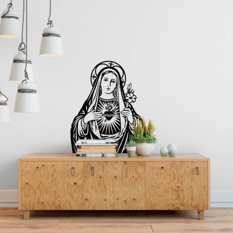 Adesivo de Parede Sagrado Coração de Maria