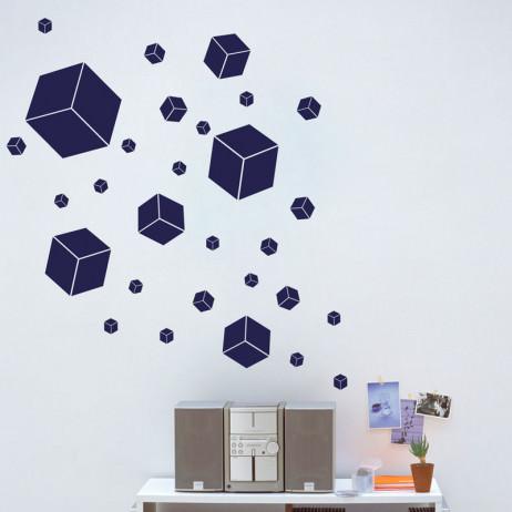 Adesivo de Parede Quadrados 3D