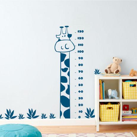 PERSONALIZADO - Adesivo de Parede Régua Medidora Girafa - RC-I01 - Preto