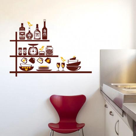 Adesivo de Parede Utensílios de Cozinha