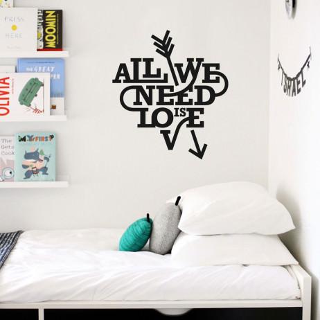 Adesivo de Parede All You Need Is Love II