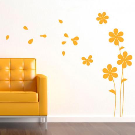 Adesivo de Parede Flores ao Vento