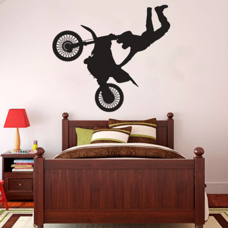Adesivo Decorativo Motocross