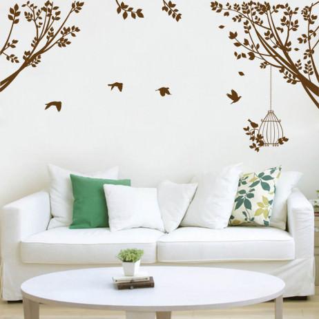 Adesivo de Parede Decorativo Galhos e Pássaros
