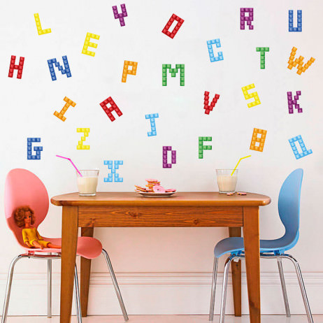 Adesivo de Parede Alfabeto