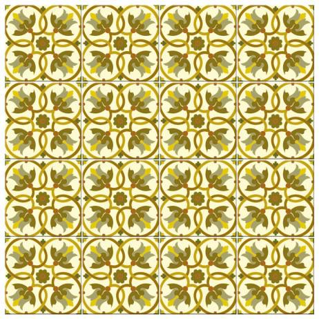Adesivo para Azulejo Português Hidráulico Tons Verdes