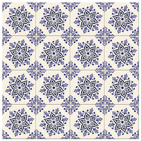 Adesivo Para Azulejo Português Azul