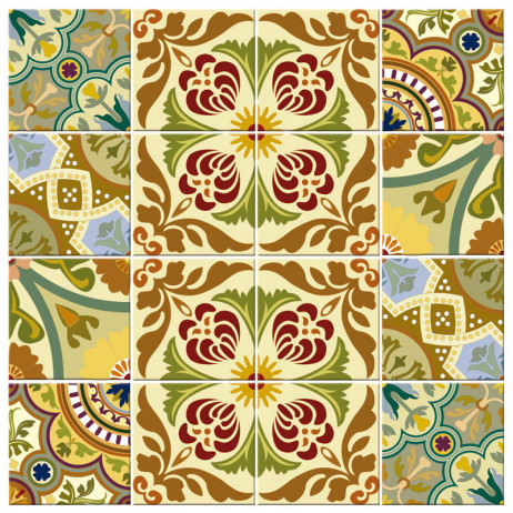 Adesivo para Azulejo Português Misturado Colorido