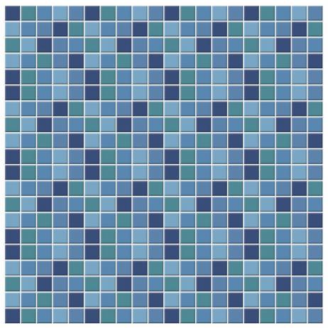 Adesivo para Azulejo Português Hidráulico Pastilhas Azuis