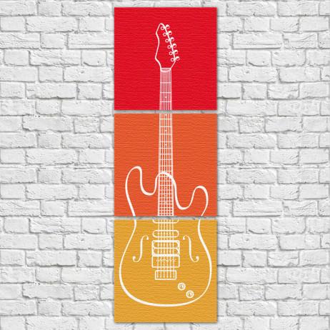 Conjunto de Quadros Decorativos Guitarra