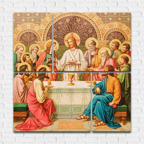 Conjunto de Quadros Decorativos Santa Ceia do Senhor - Em Canvas