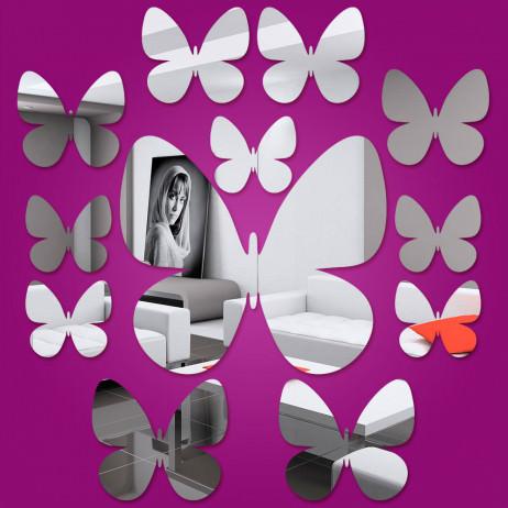 Espelho Decorativo Mini Borboletas - 12 Peças