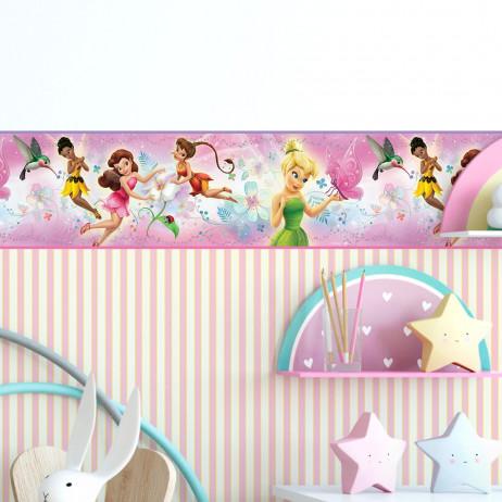 Faixa Decorativa Infantil Fadinhas - Disney - Rolo com 5 Metros