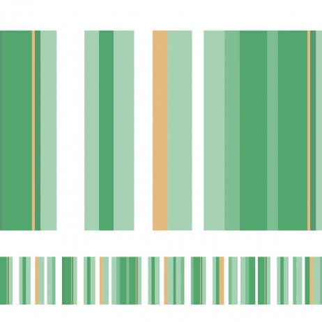 Faixa Decorativa Listrada (Tons de Verde Claro)