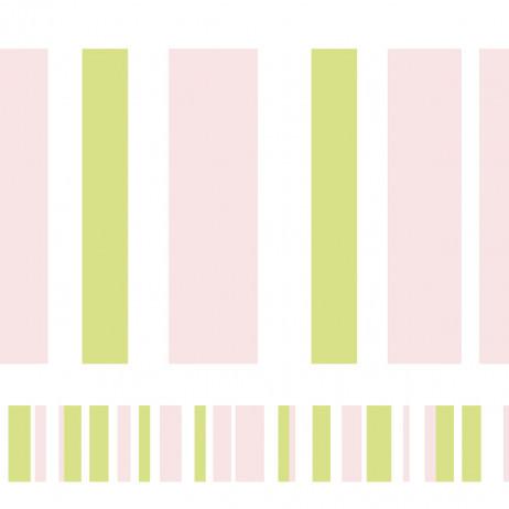 Faixa Decorativa Listradra (Verde e Rosa)