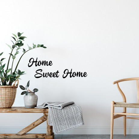 "Frase Decorativa 3D ""Home Sweet Home"""