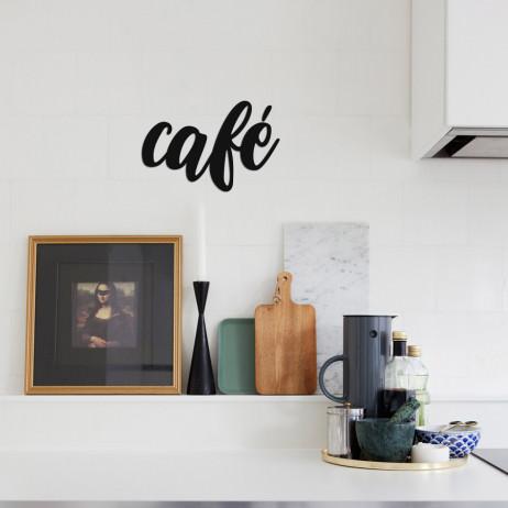 "Palavra Decorativa 3D ""Café"""