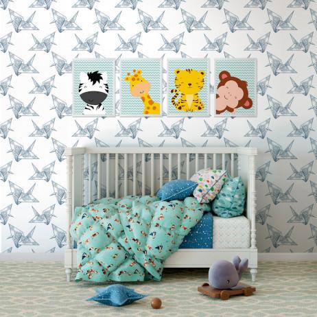 Papel de Parede Infantil Origami