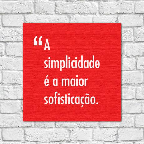 Quadro Decorativo Simplicidade Sofisticação - Leonardo da Vinci
