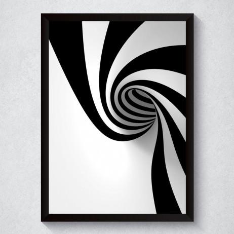 Quadro Decorativo Abstrato 3D