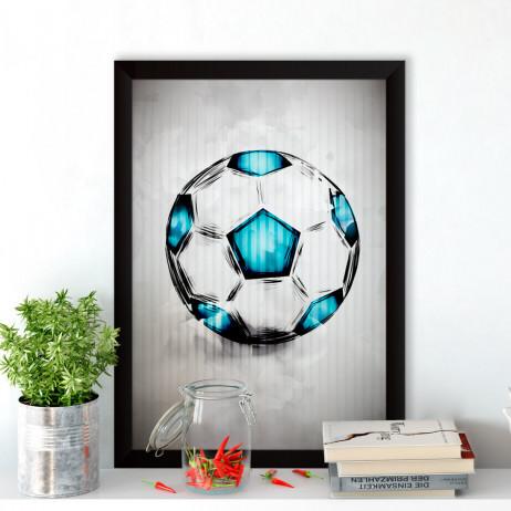Quadro Decorativo Soccer Ball Aquarela