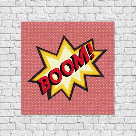 Quadro Decorativo Boom - Em Canvas