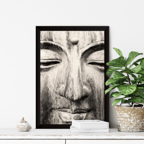 Quadro Decorativo A Face de Buddha