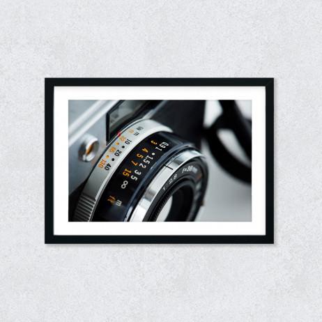 Quadro Decorativo Câmera Fotográfica Clouse UP