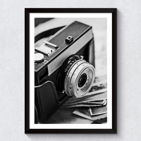 Quadro Decorativo Câmera Fotográfica