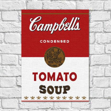 Quadro Decorativo Campbells Soup Vintage - Em Canvas
