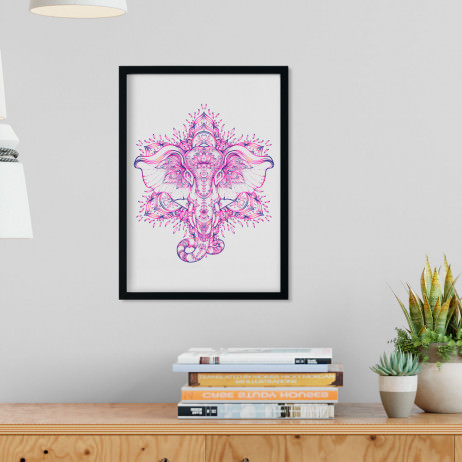 Quadro Decorativo Ganesha Abstrato