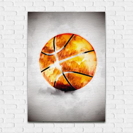 Quadro Decorativo Basketball Aquarela - Em Canvas