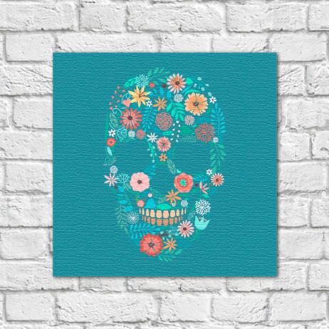Quadro Decorativo Caveira Mexicana Floral