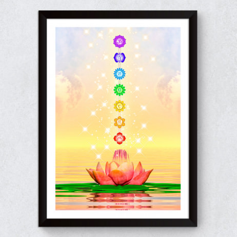 "Quadro Decorativo ""Flor de Lotus Chakras"""