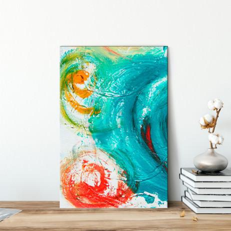 Quadro Decorativo Pintura Abstrata Espiral - Em Canvas