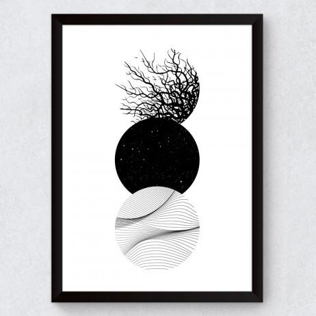 OUTLET - Quadro Decorativo Círculos Abstratos