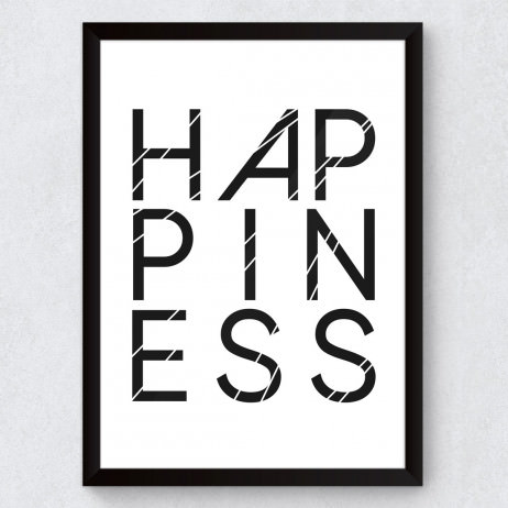 Quadro Decorativo Happiness