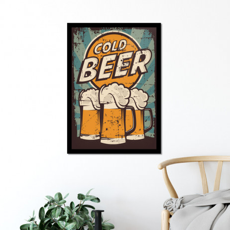 Quadro Decorativo Cold Beer