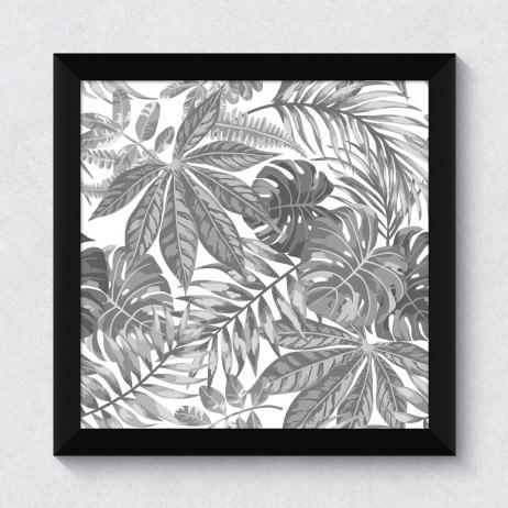 Quadrinho Decorativo Folhagem Tropical