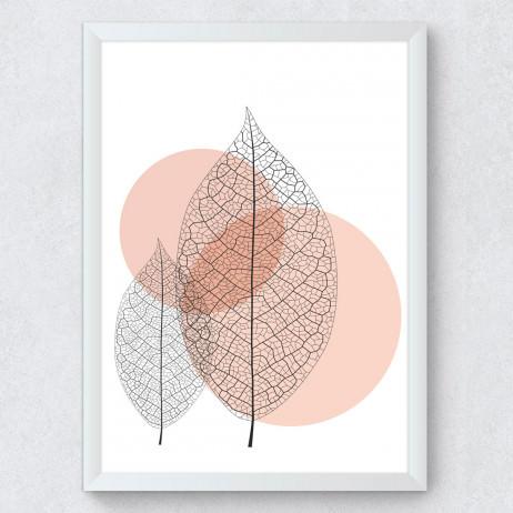 OUTLET - Quadro Decorativo Folhas Secas Irmãs