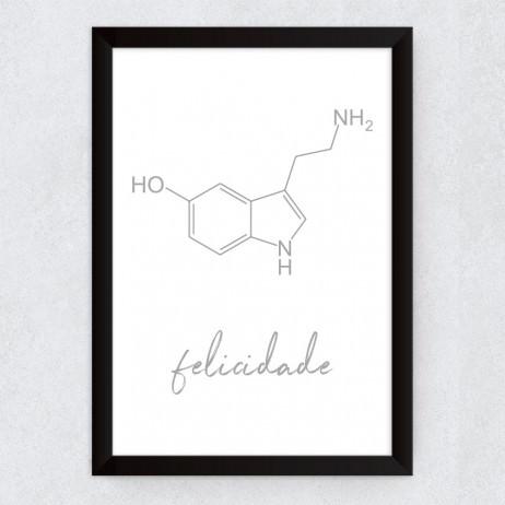 Quadro Decorativo Fórmula da Felicidade - Serotonina