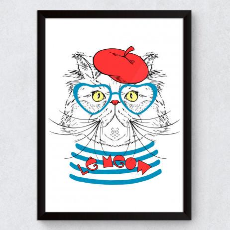 Quadro Decorativo Gato Francês