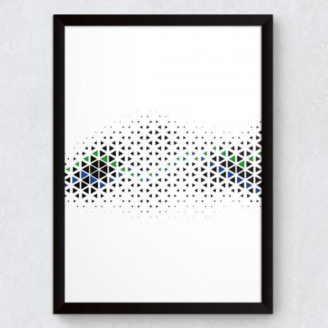Quadro Decorativo Abstrato Mini Triângulos Horizontal