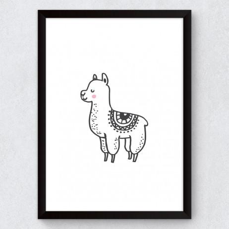 Quadro Decorativo Infantil Lhama