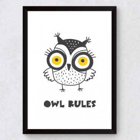 Quadro Decorativo Infantil Ow Rules